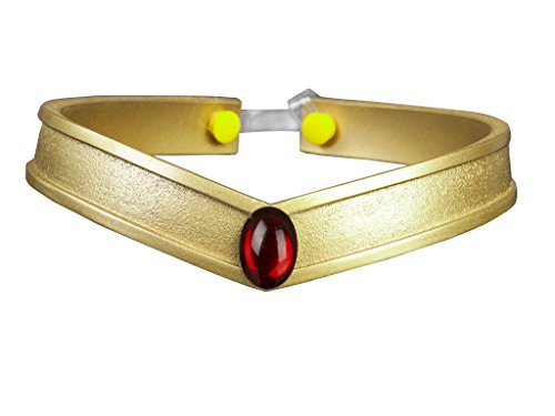 Cosfun Sailor Queen Headwear / Tiara accessories Gold PVC Props Cosplay (Pluto Meiou Setsuna)