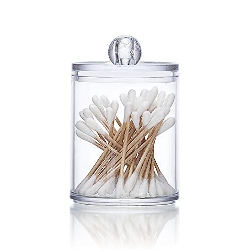 Ganghuo Caja de almacenamiento de algodón de limpieza Botella de plástico transparente de la medicina para el almacenamiento de hisopos de algodón y almohadillas de algodón