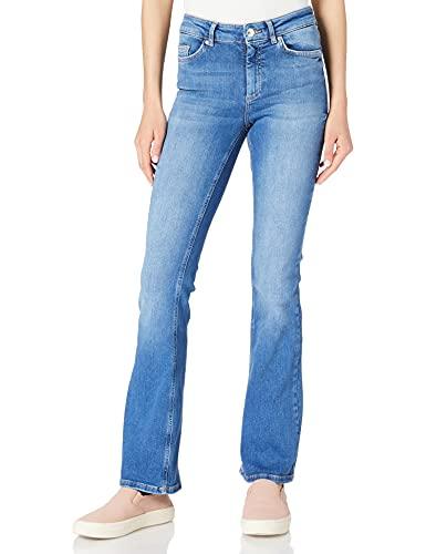 Only ONLBLUSH Life Mid Flared BB REA1319 Noos Jeans, Medio De Mezclilla Azul, L para Mujer