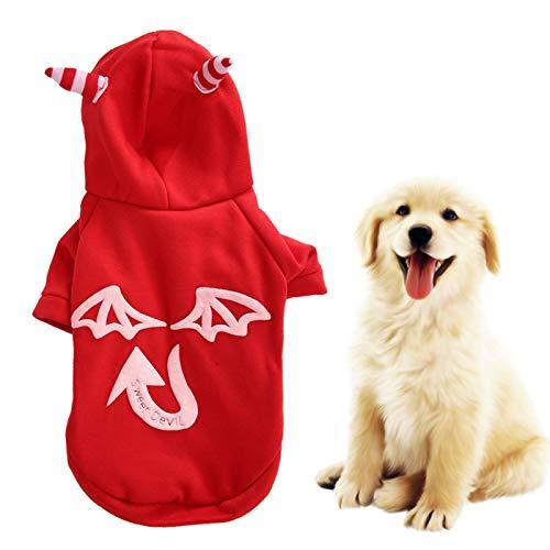 Gedourain Hallowmas Ropa para Mascotas Ropa para Mascotas para Perros, Gatos, Cachorros, Sudaderas con Capucha, Abrigo para Perros pequeños(S)