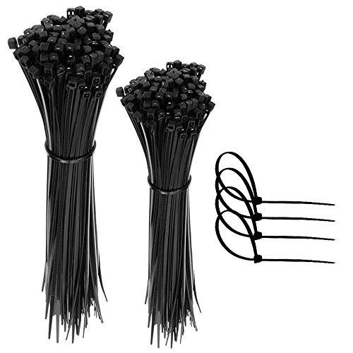 Faburo 200pz Fascette Plastica per Cablaggio, Fascette Stringicavo,Fermacavo Nere Elettricista, Nylon Cavi Fascette(100pz*15cm+100pz*20cm)…