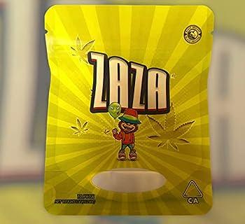 New B.U Collection 3.5g Mylar Bag Premium Heat Seal Smell Proof Child Proof Resealable Zipper Storage Bags…  Za Za 25