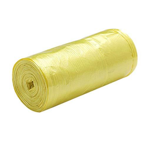 YGB Umweltmüllsack, Tragetasche 5 Rollen 50 x 46 cm Müllsäcke Einfarbig Dick Bequem Umwelt-Plastikmüllsäcke Einweg-Pla-Gelb