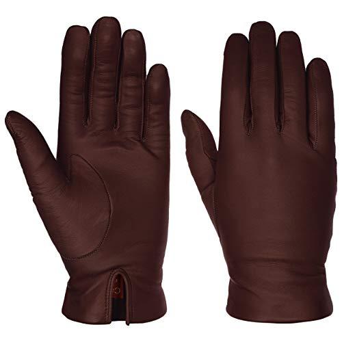 Caridei Classic Nappaleder Damenhandschuhe Fingerhandschuhe Lederhandschuhe (7 1/2 HS - bordeaux)