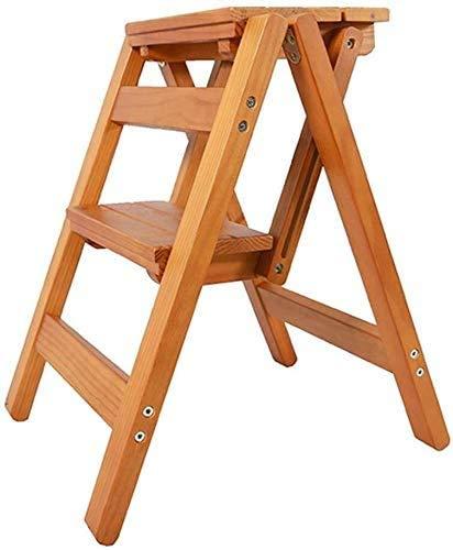 GUOXY Multifunktions-Leiter Leiter Mit Zwei Stufen, Hocker Aus Holz Für Treppen Esszimmerstühle Für Kinder Und Erwachsene, Hauptgardening Werkzeug, Robust