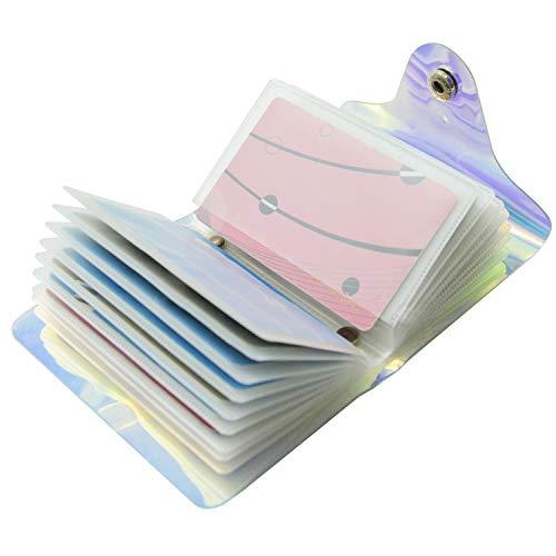 Láser Transparente Tarjeteros para Tarjetas de Credito Mujer Hombre 36 Tarjetas 20 Tarjetas (36 Tarjetas)