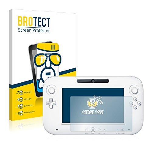 BROTECT Protector Pantalla Cristal Compatible con Nintendo Wii U Gamepad (Controller) Protector Pantalla Vidrio - Dureza Extrema, Anti-Huellas