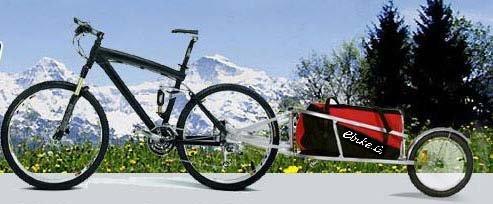ebikeCo Remolque de Bicicleta Carga Mochila, 1 Rueda Rojo. España ...