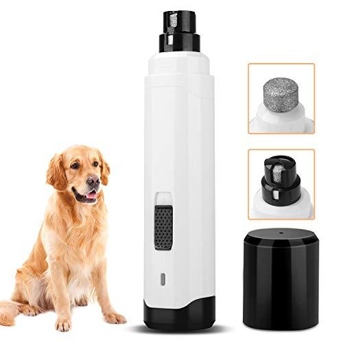 Twintoo Krallenschleifer, Ultra Quiet Schnurlos Elektrischer Nagelschleifer für Hunde, mit 2 Geschwindigkeiten und USB Wiederaufladbar Tiere Haustier Krallenpflege für Hunde Katzen