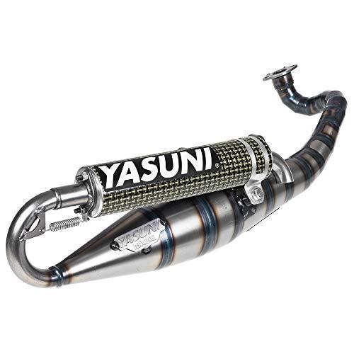 Auspuff YASUNI Carrera 16/07 Carbon/Aramid - YAMAHA Zuma 50 (Minarelli-liegend)