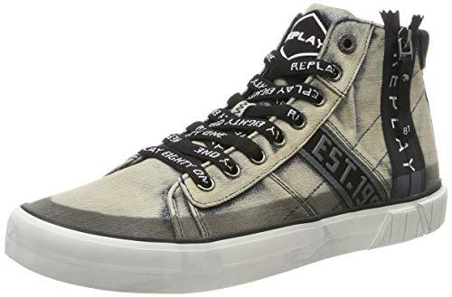 Replay Herren CASEL Sneaker, Schwarz (0010-Blue), 42 EU