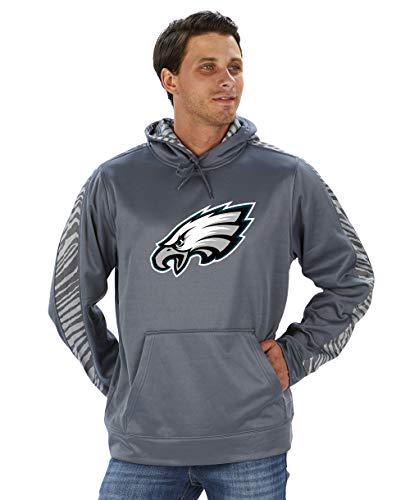 Zubaz NFL Herren Pullover Hoodie, Herren, NFL Philadelphia Eagles Pullover Hoodie, Zebra Accent, XL, Multi, X-Large