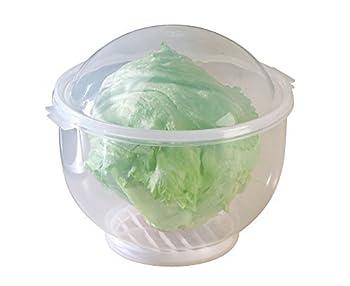 WalterDrake Lettuce KeeperTM - Lettuce Crisper Salad Keeper Container Keeps your Salads and Vegetables Crisp and Fresh- 7  X 8