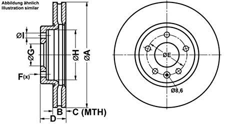 Preisvergleich Produktbild ATE 24.0126-0166.1 Bremsscheibe