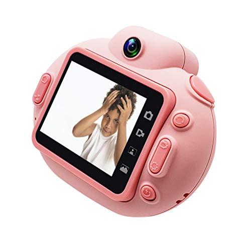 Bascar Cámara digital para niños, pantalla de 2,0 pulgadas, compatible con vídeo HD, disparador automático, con cable de carga USB, para niños, videocámara para exteriores (rosa)