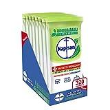 Napisan, 320 Salviette Igienizzanti, Multisuperfici, Biodegradabili, Potere Sgrassante, Freschezza Eucalipto, 8 Confezioni da 40 Salviette Igienizzanti