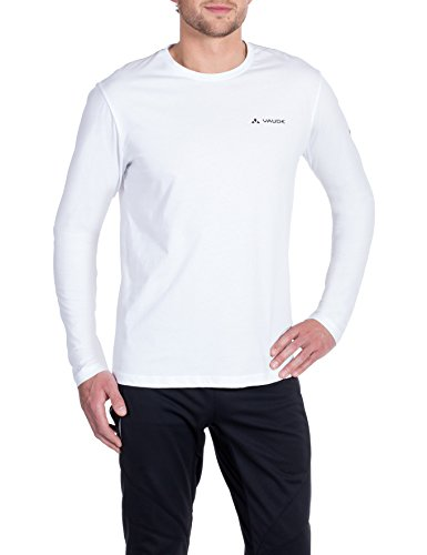 VAUDE Brand Longsleeve Shirt Homme, White, FR : L (Taille Fabricant : L)
