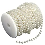 Ambox 8 mm Large Ivory Pearls Faux Crystal Beads by The Roll for Flowers Wedding Party Dec...