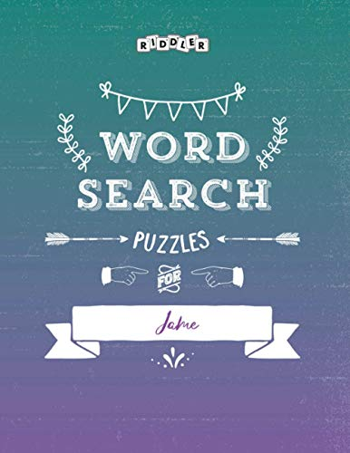 Word Search Puzzles for Jame