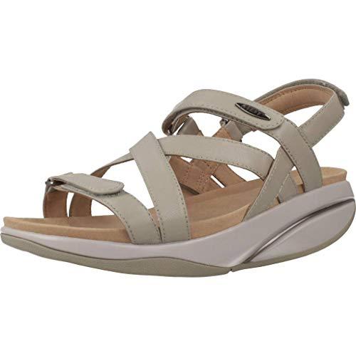 MBT Rocker Bottom Shoes Women's – Everyday Dress Sandal Kiburi - Taupe