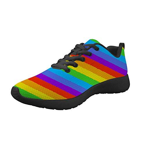 Amzbeauty Zapatillas de deporte para mujer, de malla, transpirables, ligeras, absorbentes, cómodas, antideslizantes, para caminar, deportivas, para caminar, diseño de Navidad, color, talla 38 EU