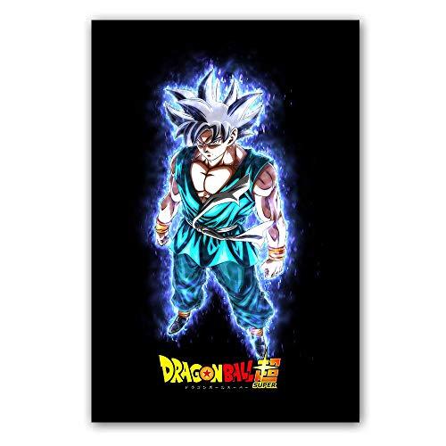 Poster und Druck Dragon Ball Super Saiyajin Poster Goku Ultra Instinct Leinwand Malerei Wandbild für Wohnzimmer Film Poster 40 * 60cm