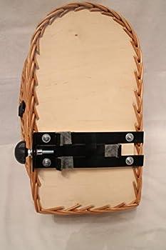 Panier de vélo pour chien Marcus XL pour porte-bagages en osier avec grille métallique et coussin