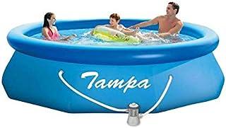 Marimex Tampa Piscina, Piscina Hinchable para el jardín con Accesorios, Redonda con Filtro de Cartucho, 3,05 x 0,76 m