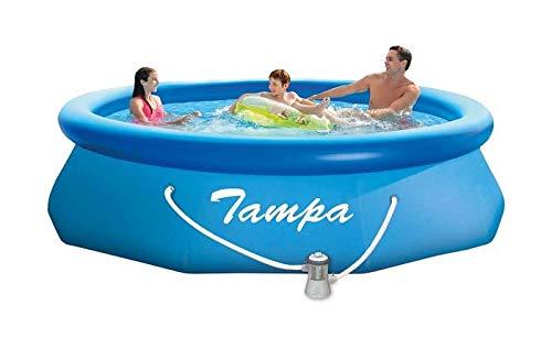 Marimex Tampa Swimmingpool, Aufblasbarer Pool für Garten mit Zubehör, rund mit Kartuschefilter, 3,05 x 0,76 m