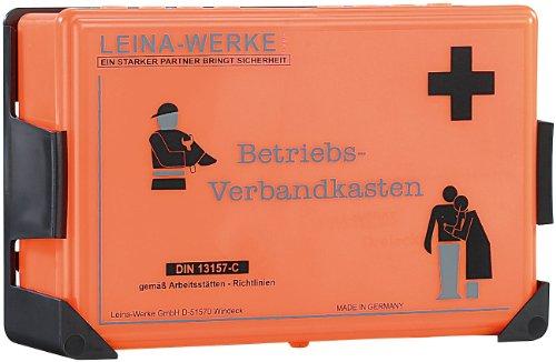 LEINA Betriebsverbandkasten, Inhalt DIN 13157, orange