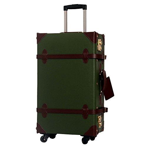 L型 ダークグリーンブラウン/CHOCOLAT(ショコラ) TSAロック搭載 トランクケース 超軽量 大型