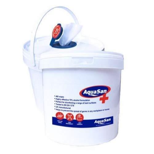 Toallitas desinfectantes de superficie Aquasan