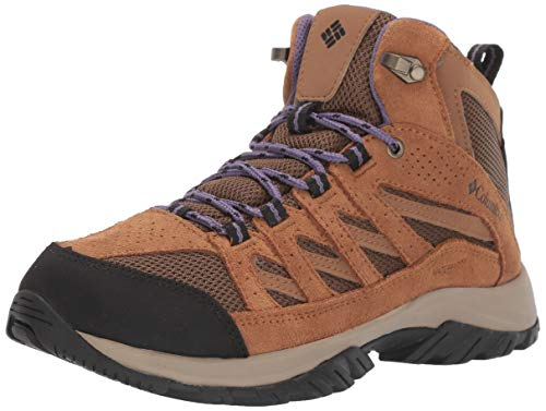 Columbia Women's Crestwood Mid Waterproof Hiking Shoe, Dark Truffle, Plum Purple, 8 Regular US