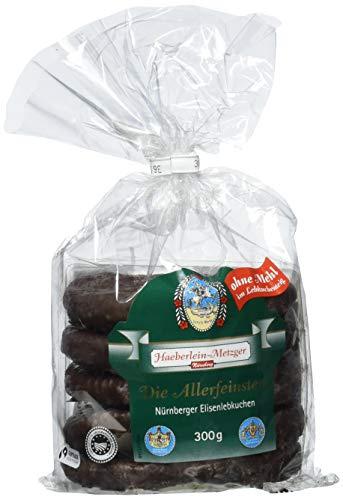 Haeberlein Metzger Elisenlebkuchen ohne Mehl Zartbitter, 5er Pack (5 x 300 g)