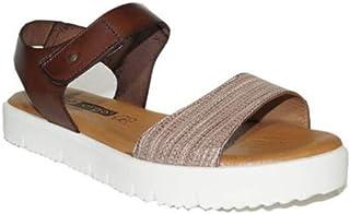 57e2cb81 DIGO-DIGO - Sandalia Paz Relieve Velcro 2692 Sandalias Planas Piel Mujer  Confort Casual Moda