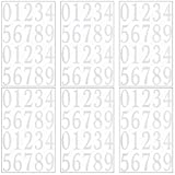 Aodaer 120 Pieces White Reflective Mailbox Decal Adhesive Number Stickers 6 Sheets Die Cut Vinyl Number Sticker for Mailbox, Signs, Door, Window, Car, Address Number, 3 Inches
