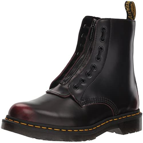 Dr.Martens Donna 1460 Pascal Front Zip Arcadia Leather Cherry Red Stivali 40 EU
