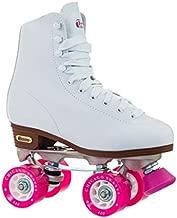 Chicago Skates Women's Classic Roller Skates – White Rink Quad Skates - Size 6