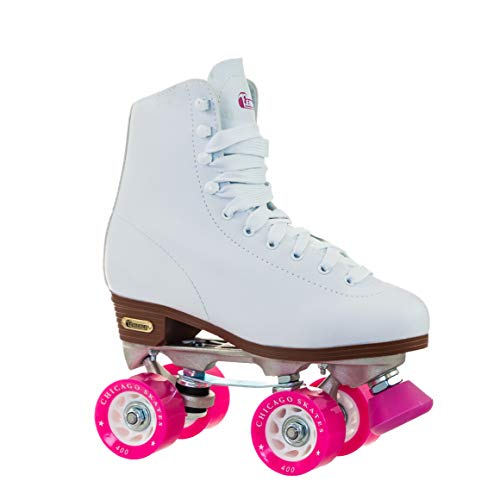 Chicago Skates Women's Classic Roller Skates - Premium White Quad Rink Skates
