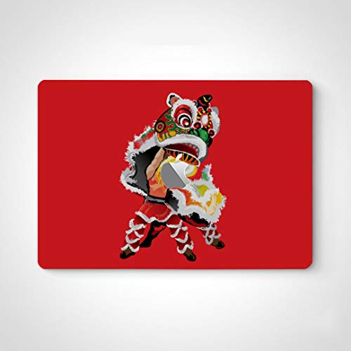 Decals Stickers For Laptop A Jumping Chinese Lion Skin Vinyl Sticker Decals For Laptop For Macbook Air 13' Pro 13'/15'/16' 2008-2020 Version Laptop Keyboard Decal Sticker