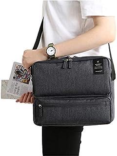 Rubik Crossbody Shoulder Bag, Multi Function Compartment Travel Organizer Messenger Hand Bag for Men and Women (Black)