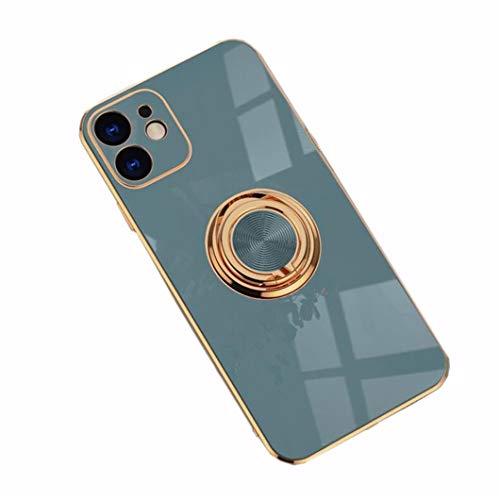 Jacyren Hoes iPhone 11 Pro Max telefoonhoes iPhone 11 Pro Max beschermhoes, ultradunne TPU-silicone hoes, magnetische autohouder 360 graden vingerhouder. voor iPhone 11 Pro Max 6,5 inch, grijs (grijs) - Hülle iPhone 11 Pro Max Handyhülle