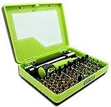 ZHONGJIUYUAN 53 piezas en 1 Precisión Hex Torx Mini Star Destornillador Bit Set Teléfono Reparación Herramienta Kit