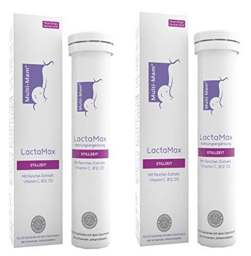 Multi-Mam LactaMax Nahrungsergänzungsmittel für die Stillzeit mit Fenchel-Extrakt - 20 Brausetabletten (2 Pack)