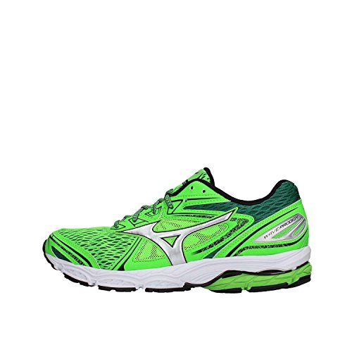 Mizuno Wave Prodigy, Zapatillas de Running Hombre, Multicolor (Greenslime/Silver/Evergreen 04), 42.5 EU