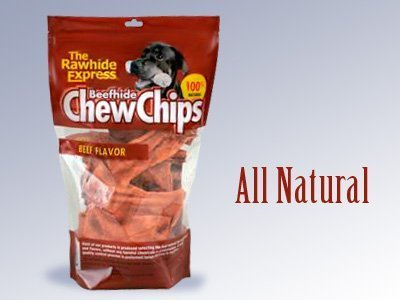 The Rawhide Express Beefhide Chew Chips Beef Flavored (Great Reward or Treat) by The Lennox Intl (English Manual)