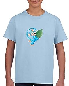 Fingerlings Tee Baby Monkey Toy Cute Kids Camiseta Azul Claro