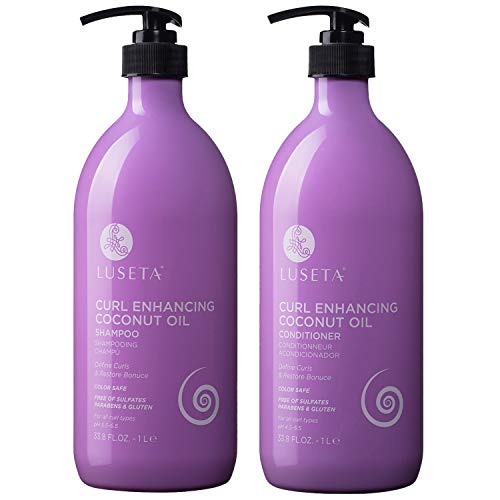 Luseta Curl Enhancing Coconut Oil Shampoo & Conditioner...