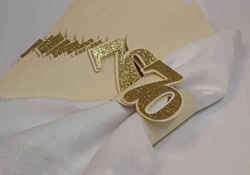 All About Details Gold 70 Napkin Holders, 12pcs, 7 x 2