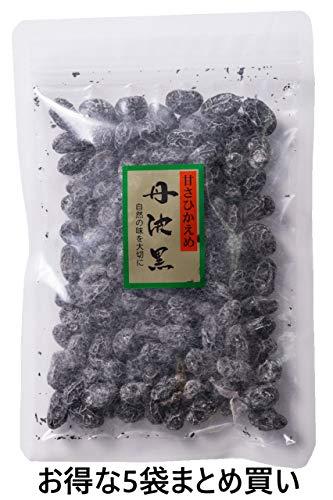 丹波黒 黒豆甘納豆 150g  甘さひかえめ しぼり甘納豆 お得な5袋セット